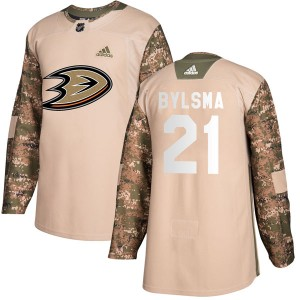 Youth Adidas Anaheim Ducks Dan Bylsma Camo Veterans Day Practice Jersey - Authentic